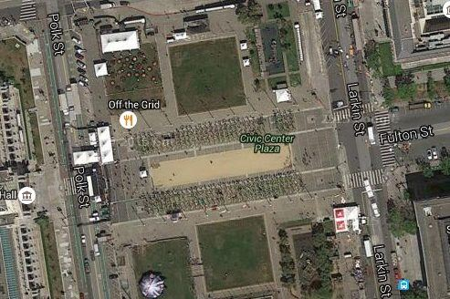 Aerial Map at Civic Center Plaza