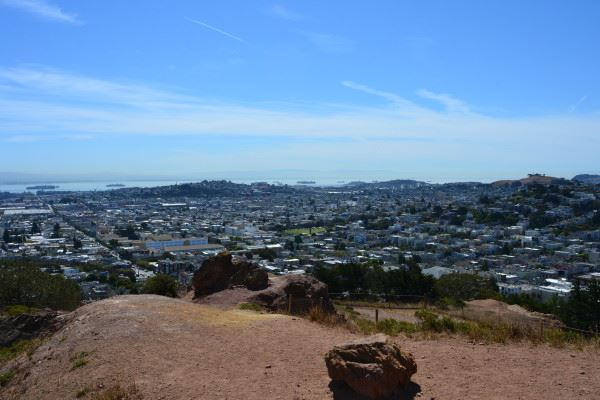 Corona Heights viewpoint overlooking the city
