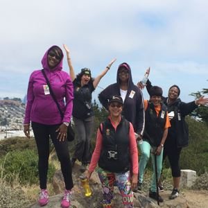 Group of women on a hike