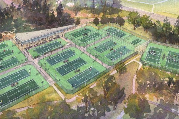 Aerial Tennis Center rendering