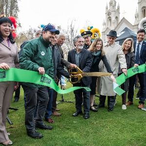 Ribbon cutting ceremony at Washington Square