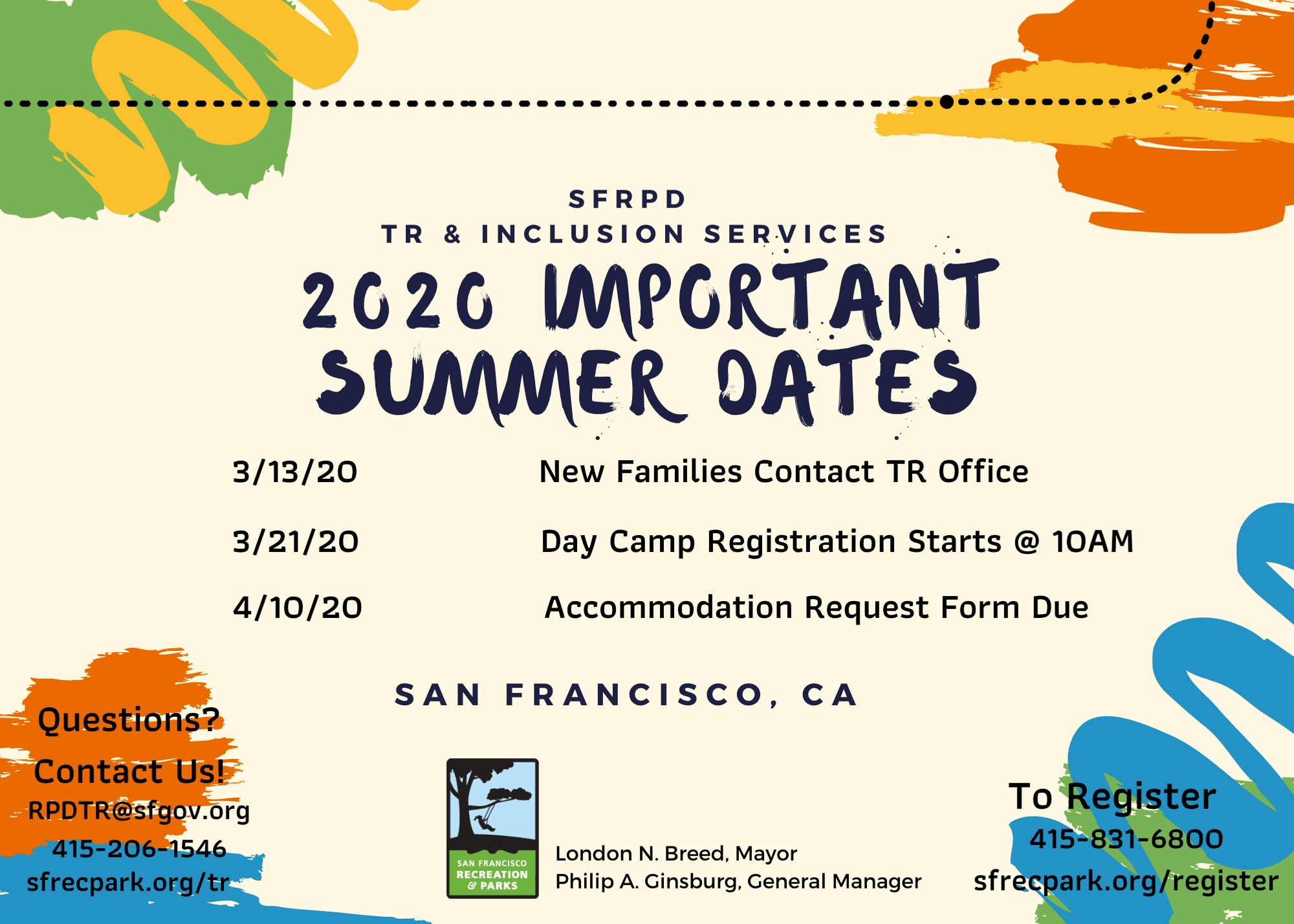 Summer 2020 Important Dates image
