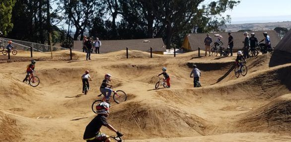Kids at McLaren Bike Park