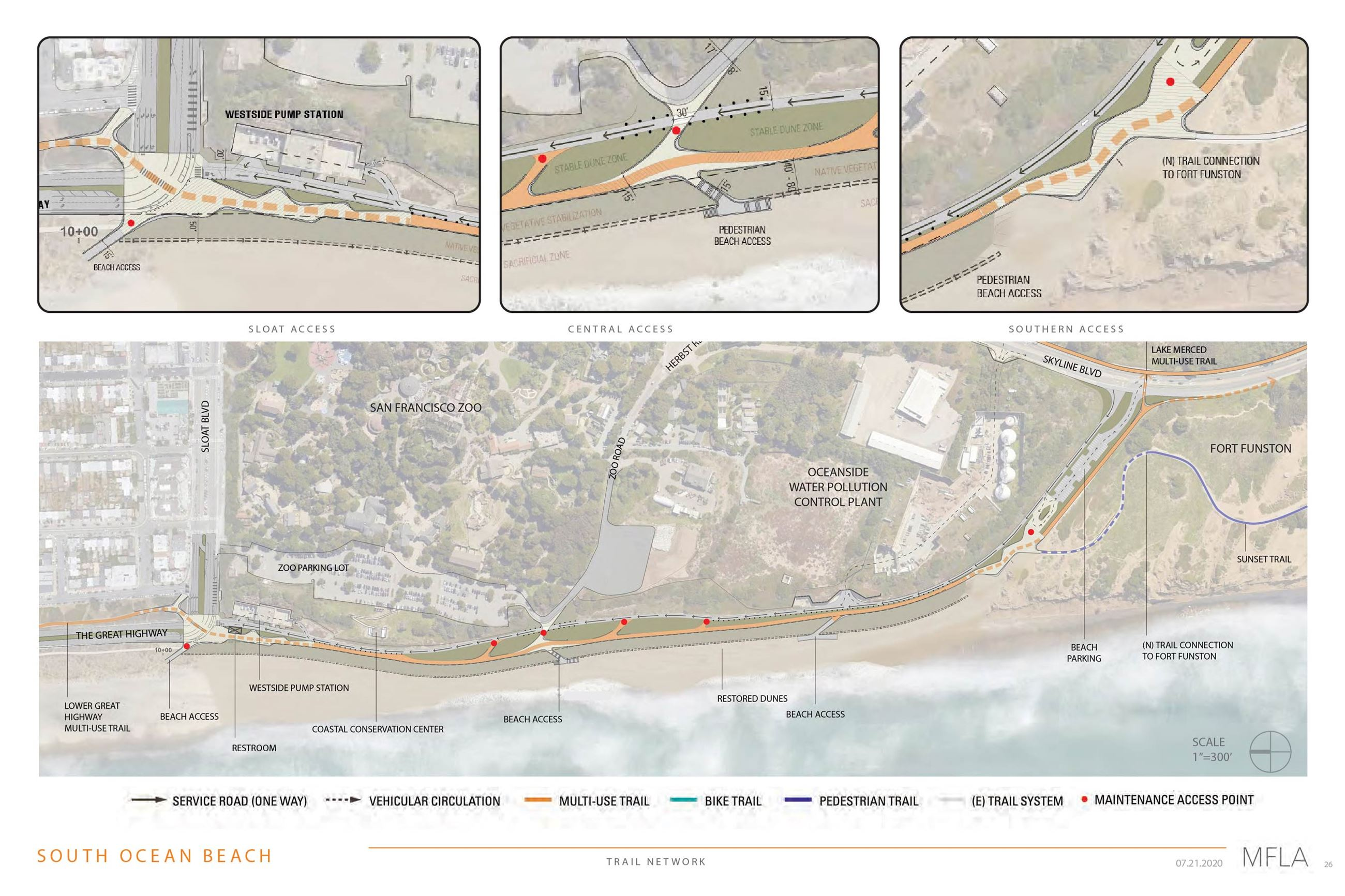 South Ocean Beach Key Map of proposed project area