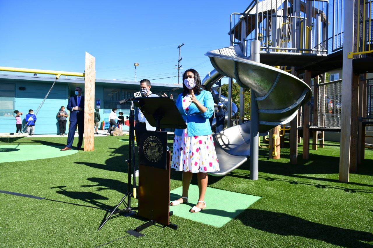 Mayor Breed announces reopening of playgrounds