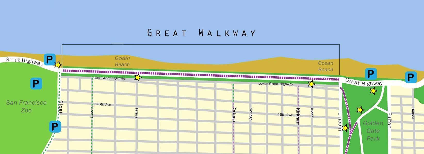 Great Walkway Horizontal Map
