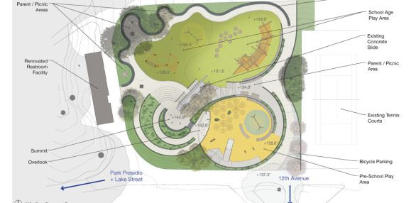 Site Plan for Mountain Lake Park Playground Improvement Project