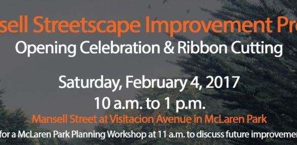 Mansell Streetscape Improvement Grand Opening Flyer