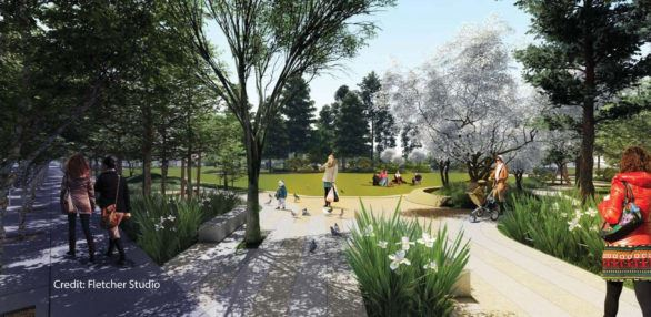 Public Realm Plan Rendering of Future Park